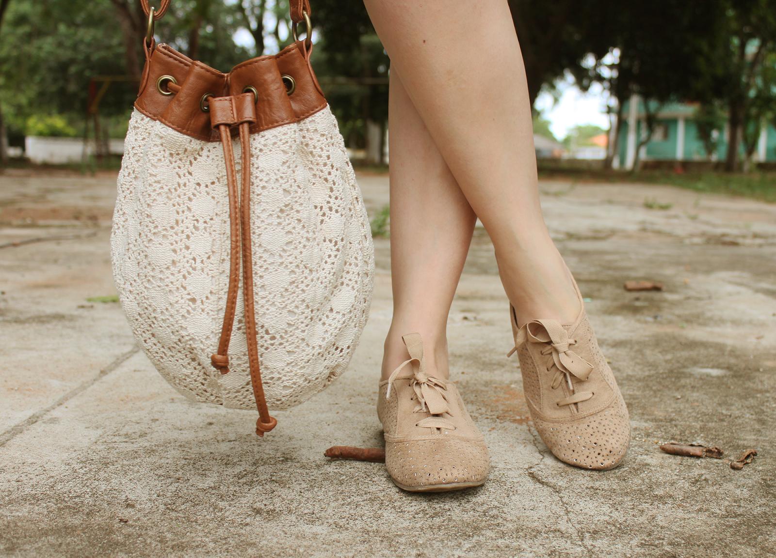 #LookdeAdri: Bucket bag + oxford